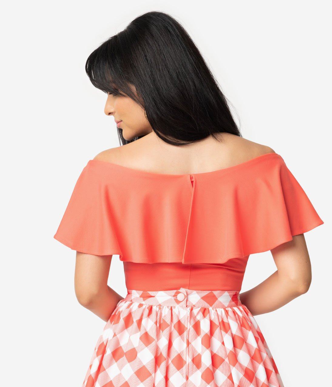 Pantone Living Coral Frenchie Top