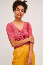 Pink Fine Knit Sweater by Compania Fantastica