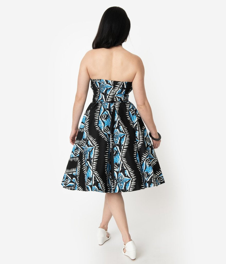 Alfred Shaheen Shark Swing Dress by Unique Vintage