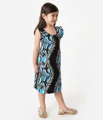Alfred Shaheen Shark Print Kids Dress by Unique Vintage