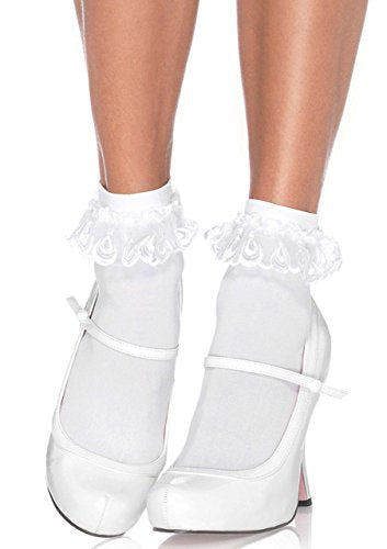 Lace Ruffle Ankle Socks