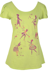 Sporting Girl Tulip Sleeve Tee in Citron by Blue Platypus