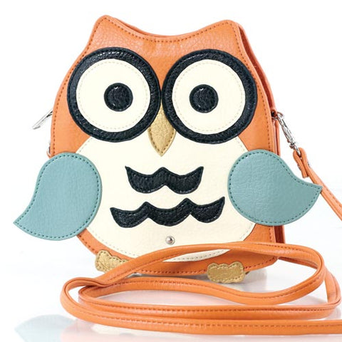 Orange Owl Cross-body Bag