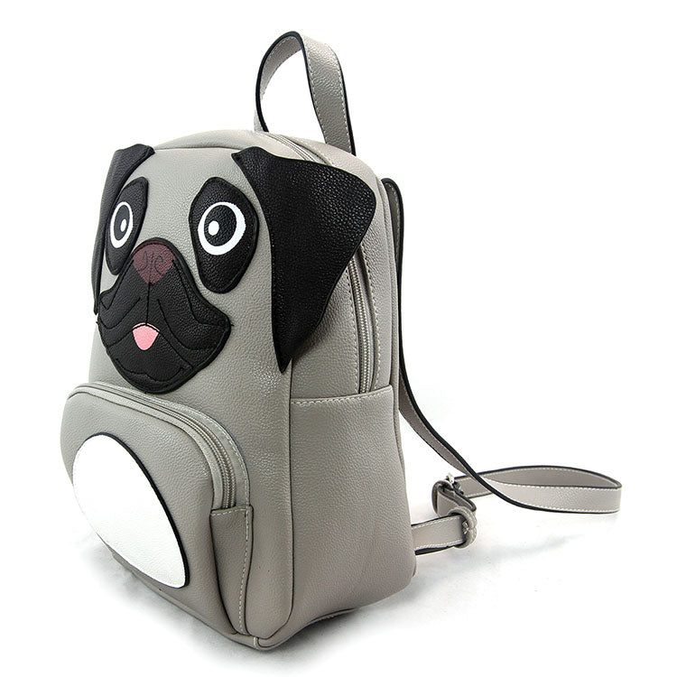 Pug Gray Backpack by Sleepyville Critters