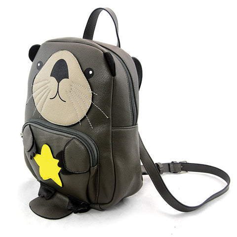 Otter Backpack in Grey by Sleepyville Critters