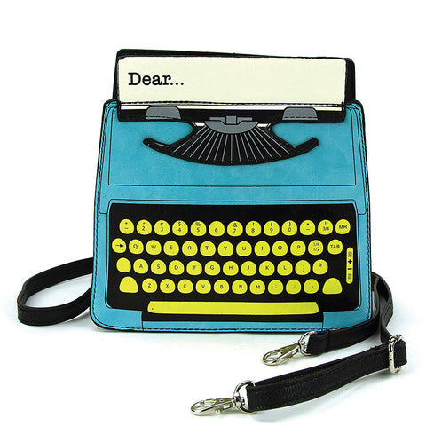 Typewriter Crossbody Bag in Blue