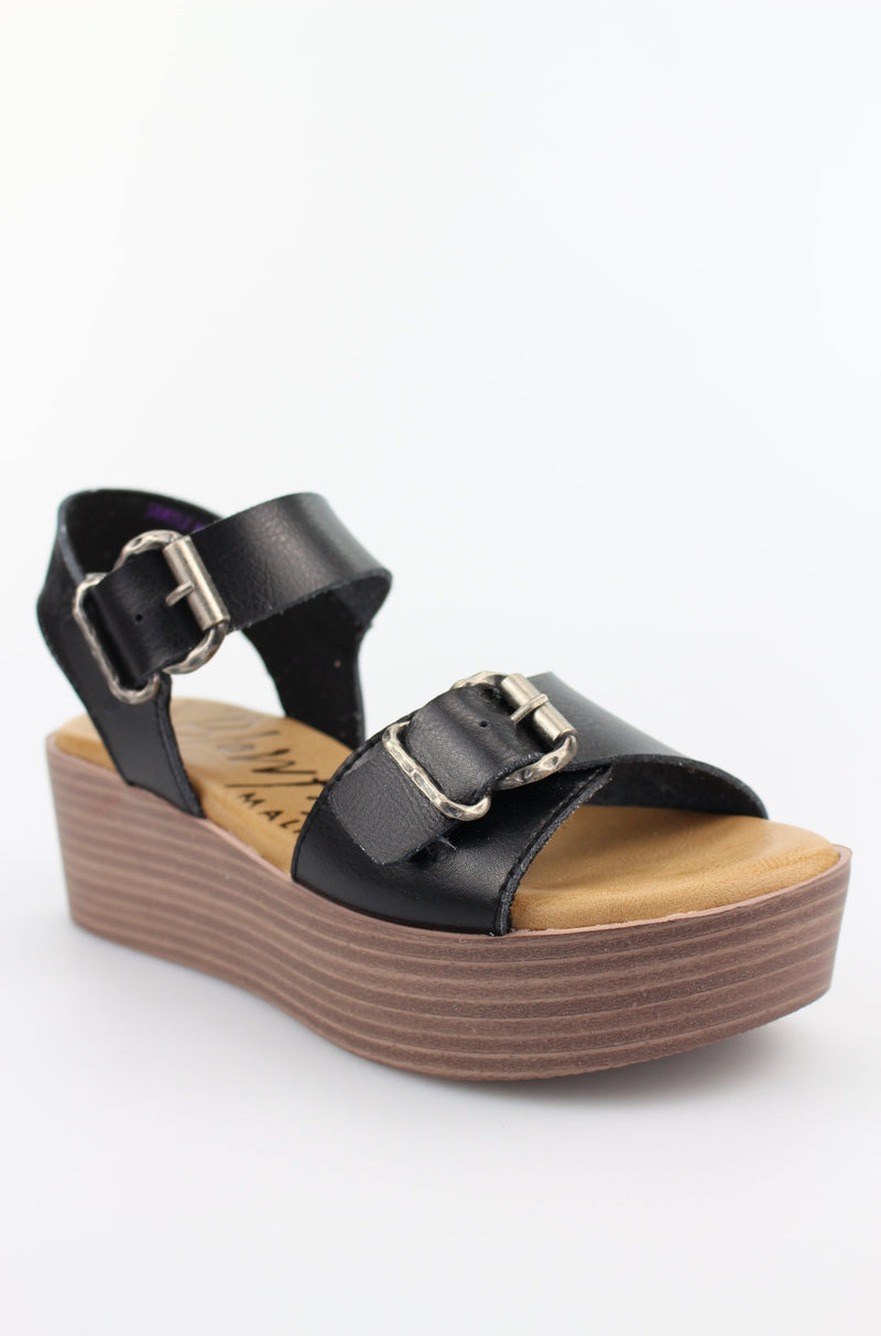 Black Leeds Flatform Sandal by Blowfish