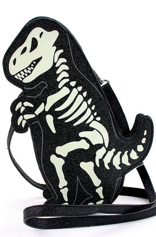 Glow in the Dark Dinosaur Skeleton Cross-body Bag