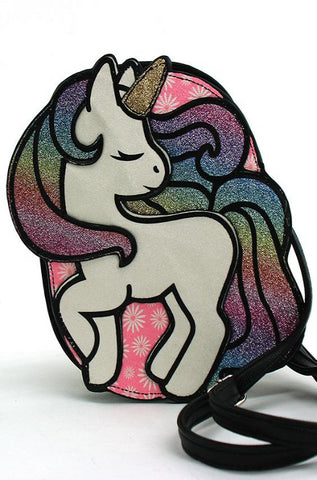 Glittery Unicorn Mini Crossbody Bag