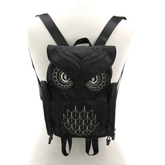Owl Backpack in Black & Gold