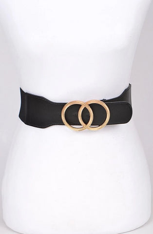 Gold Feathered Circle Belt in Multiple Colors!