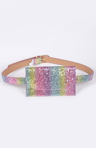 Colorful Glitter Fanny Pack Wallet