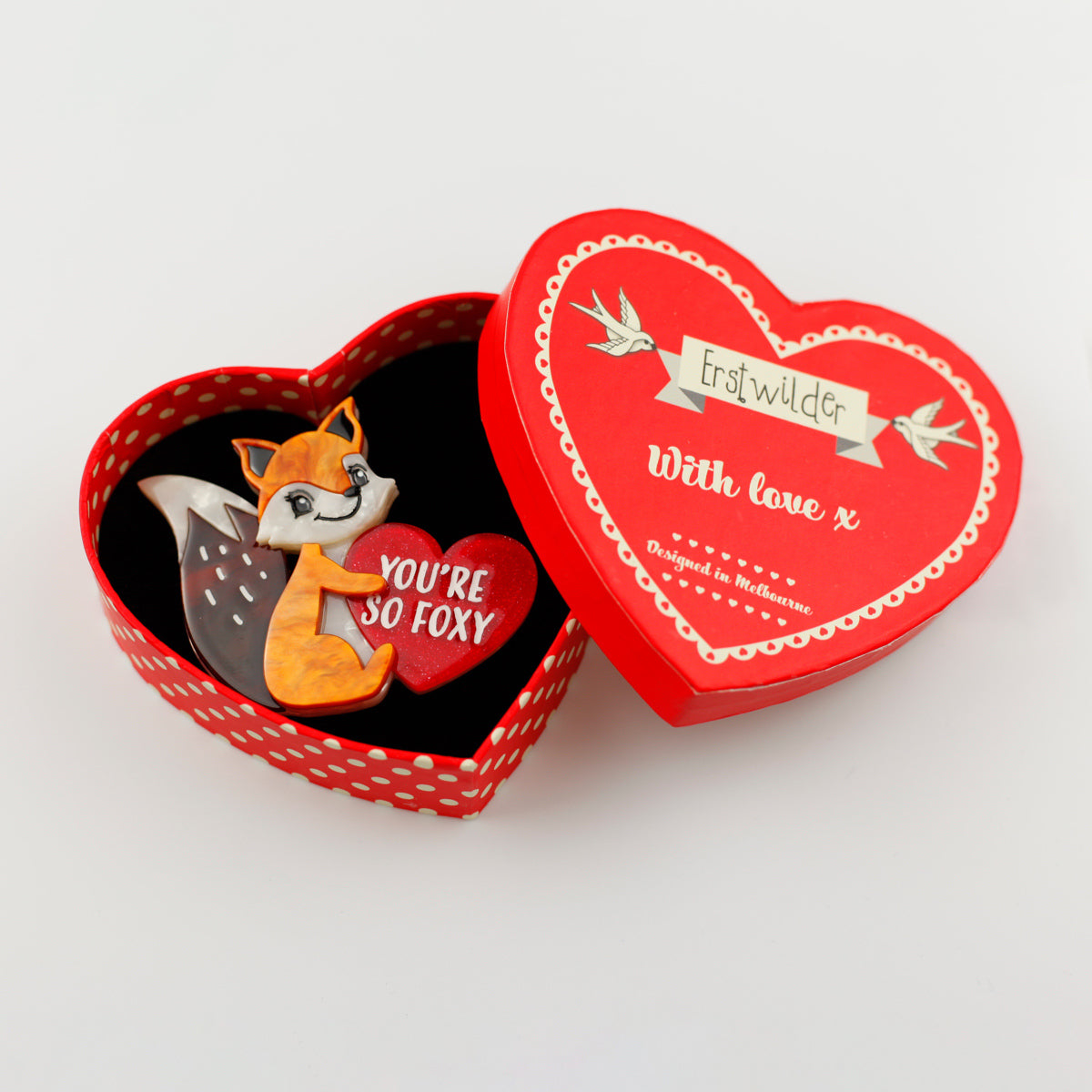 You're So Foxy Brooch by Erstwilder