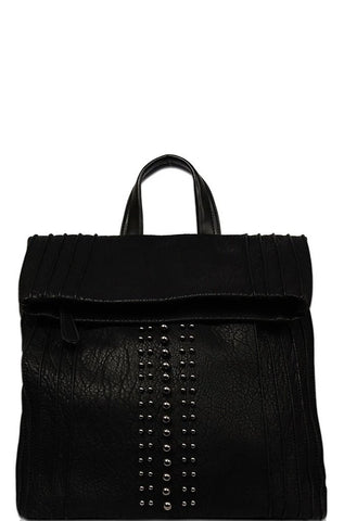 Black Studded Vegan Backpack