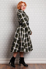 Plaid Teagan Swing Coat by Miss Candyfloss