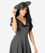 Grey & Black Knit Natalie Swing Dress by Unique Vintage