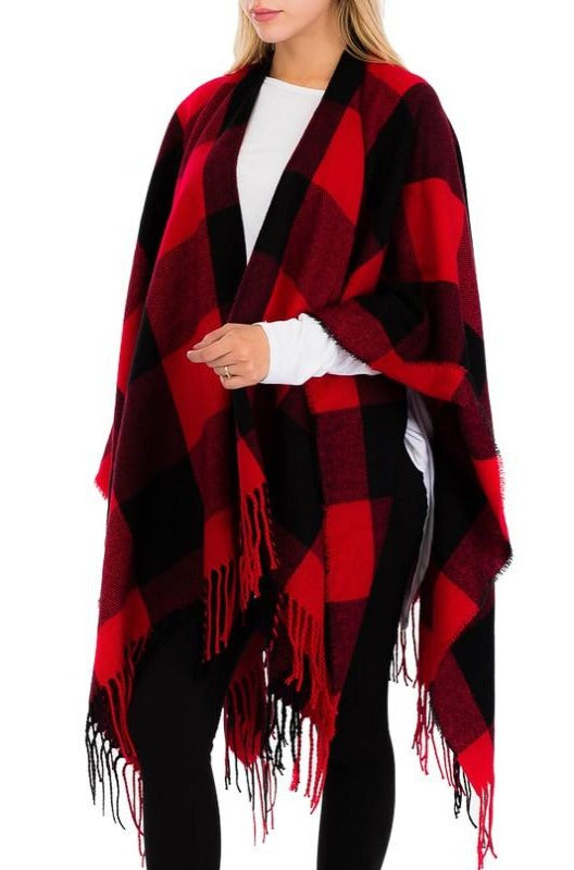 Red Buffalo Check Shawl Scarf