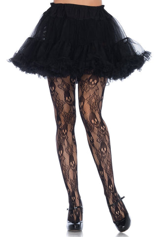 Black Rose Skull Tights