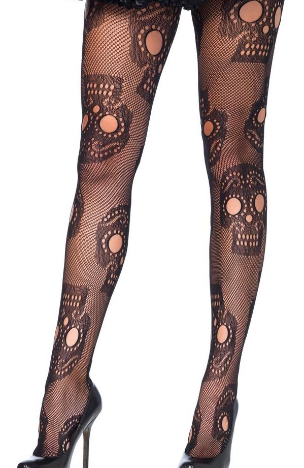 Sugar Skull Tights by Leg Avenue