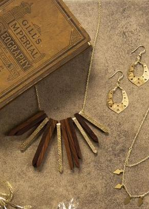 Concerto Wooden Necklace by Mata Traders