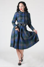Belmont Skirt in Green & Blue Plaid by Tatyana