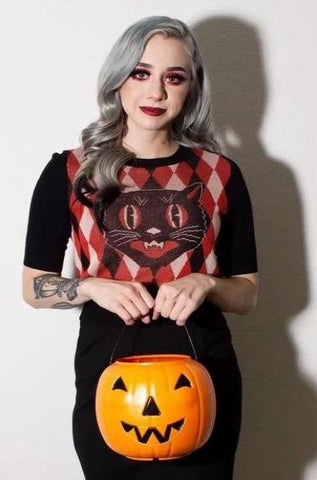 Mitzi Halloween Sweater by Oblong Box Shop