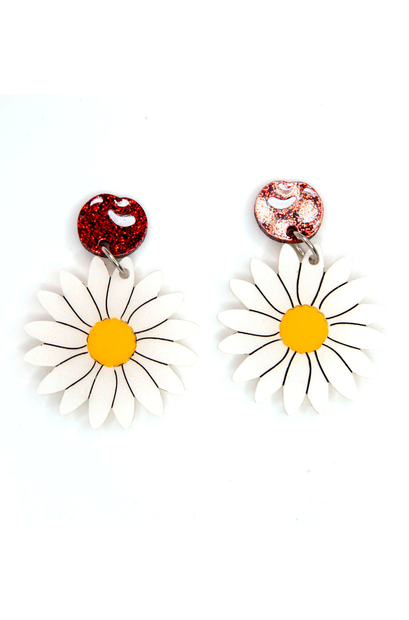 Cherries and Daisies Mary Poppins Earrings by Daisy Jean Florals
