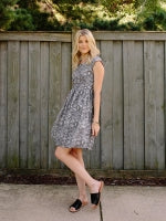 Black and White Geo Chilmark Dress by Mata Traders