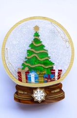 White Christmas Brooch by Daisy Jean