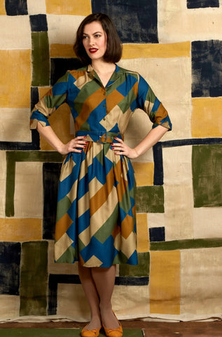 Green Bauhaus Cynthia Dress by Palava