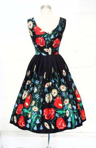 Vivian Dress in Field Flowers by Retrospec'd