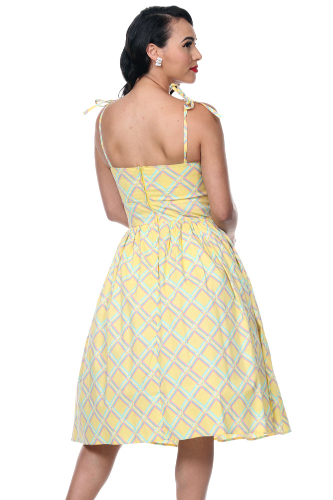Deena Sunshine Yellow Dress by Bettie Page