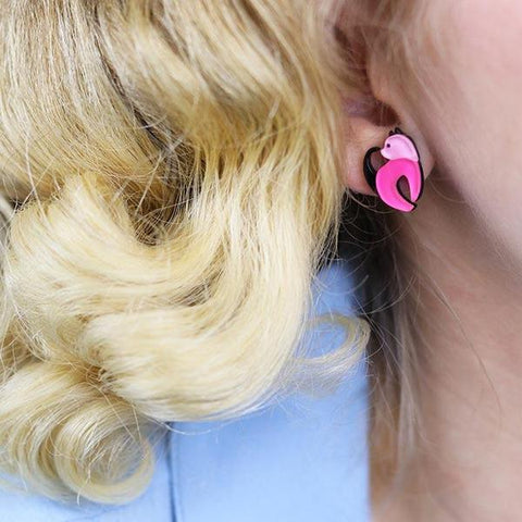 Erstwilder Cat Walk Stud Cat Earrings