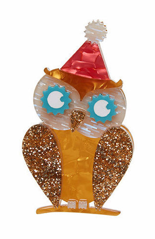 Erstwilder Having a Hoot Brooch