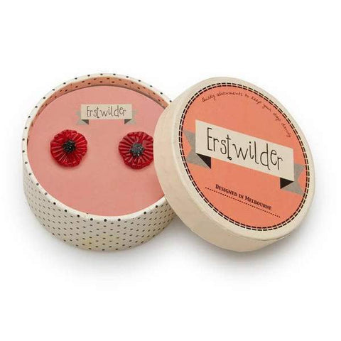 Poppy Field Stud Earrings by Erstwilder