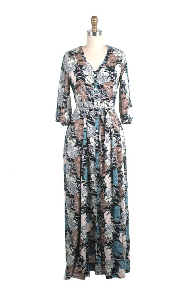 Final Sale Ellie Maxi Dress in Blue Multi by Frock Shop