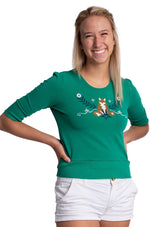 Green Fox Sweatshirt by Blue Platypus
