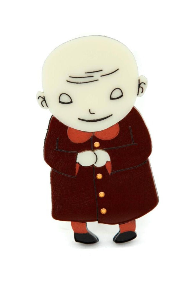 Addams Family Uncle Fester Brooch by Daisy Jean Florals