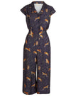 Francesca Tencel Navy Tiger Jumpsuit by Palava