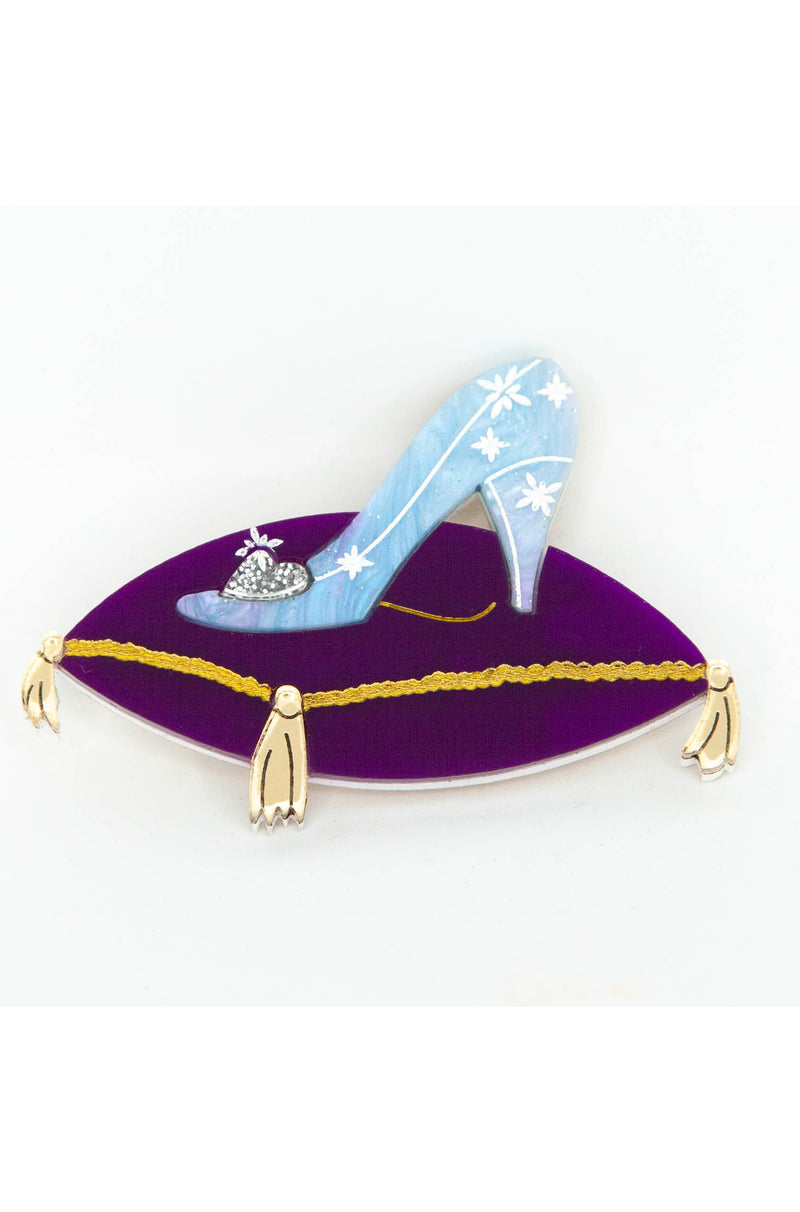 Glass Slipper Brooch by Daisy Jean Floral