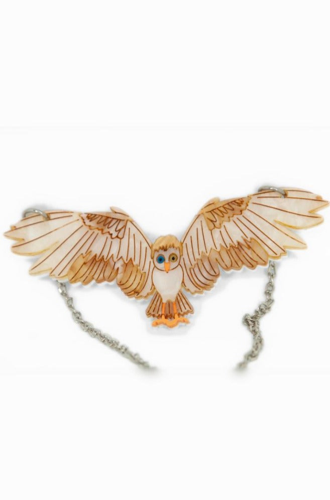 RESTOCKING Labyrinth Goblin King Owl Necklace by Daisy Jean Florals