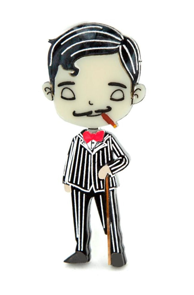 Addams Family Gomez Brooch by Daisy Jean Florals