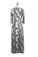 Ellie Maxi Dress in Blue Multi by Frock Shop