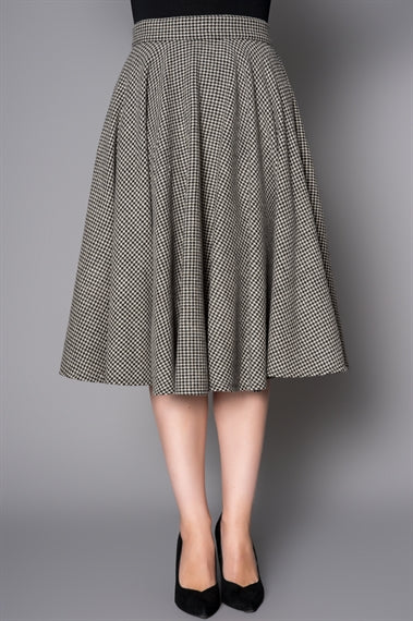 Sophie 50's Circle Skirt in Houndstooth by Sheen