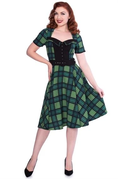 Green Plaid Dolly Dress by Sheen