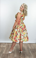 Milan Dress in Lilian Yellow Floral by Heart of Haute