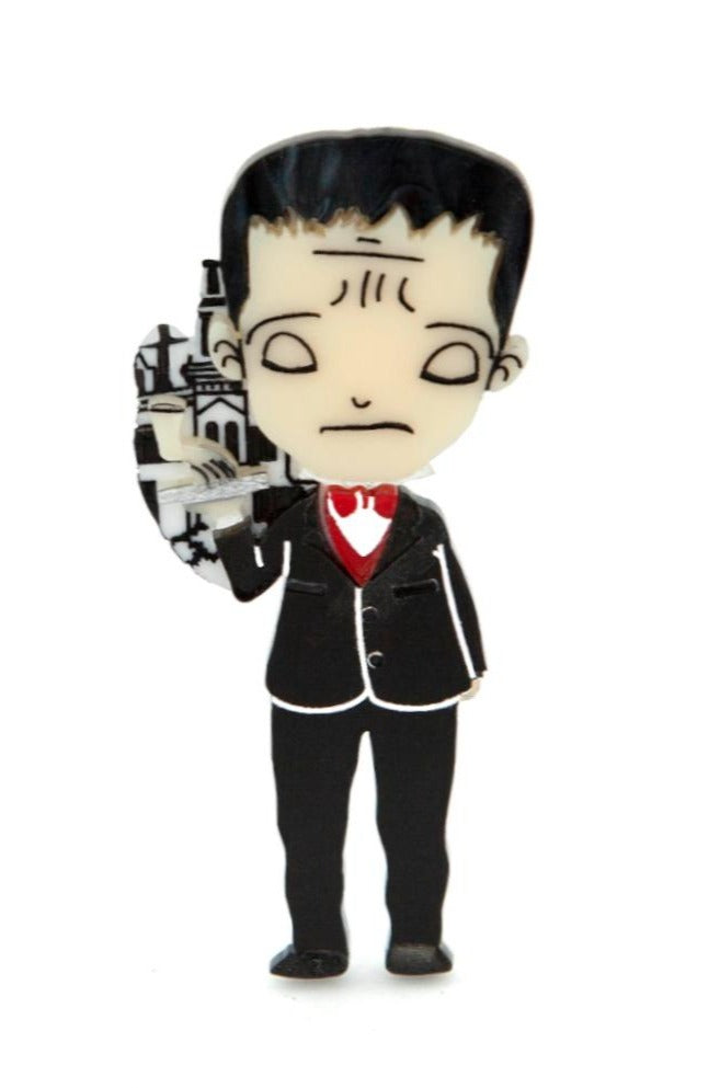 Addams Family Lurch Brooch *by Daisy Jean Florals