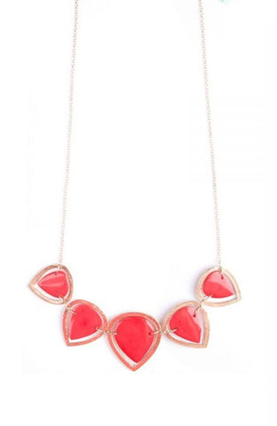 Sansa Drop Necklace in Red by Mata Traders