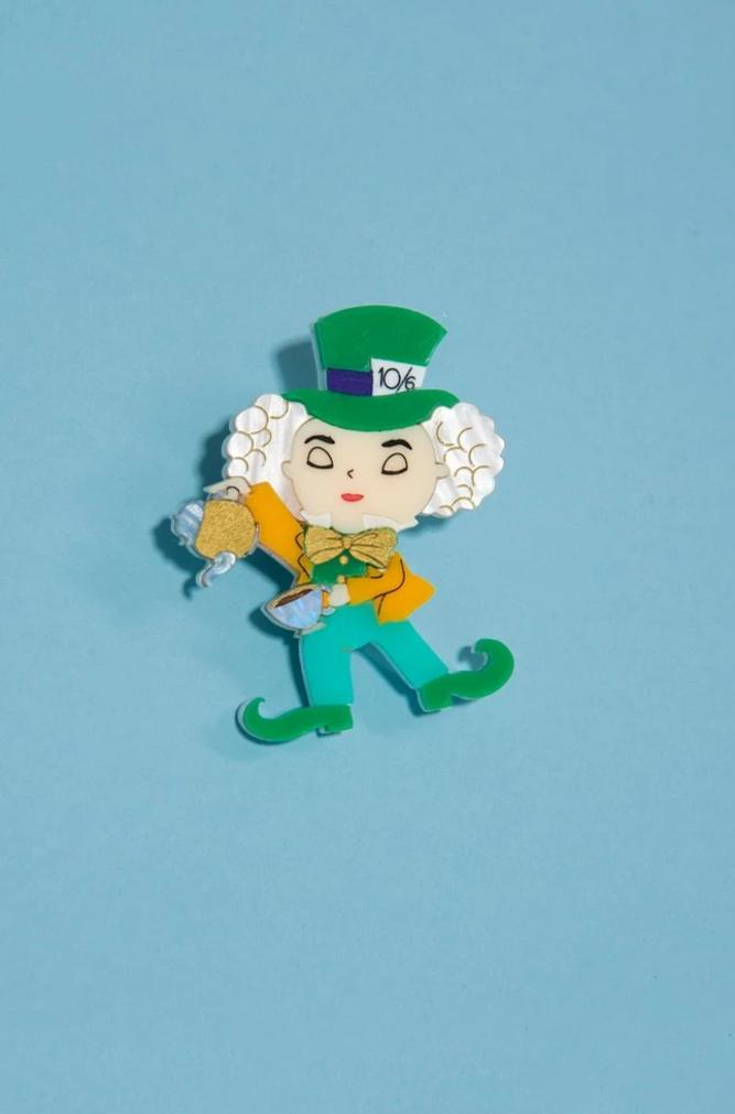 Mad Hatter Brooch by Daisy Jean
