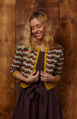 Marbled Feathers Cardigan Sweater by Palava